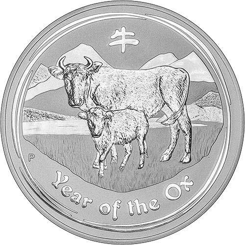 2009 1 Kg Silver Coin Lunar Year of the Ox Perth Mint Bullion 23937