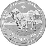 2009 1 Kg Silver Coin Lunar Year of the Ox Perth Mint Bullion 23937