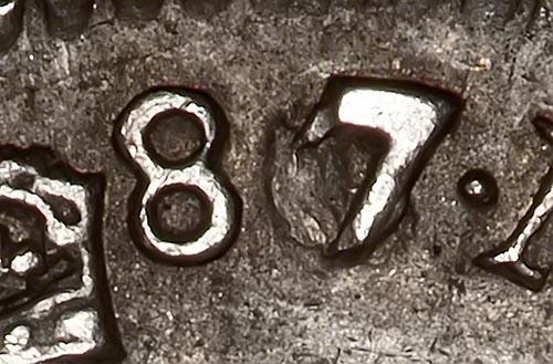 1687/6 James II Sixpence 22531
