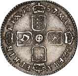 1687/6 James II Sixpence 22529