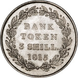 1815 George III 3 Shilling Bank Token gEF 25205