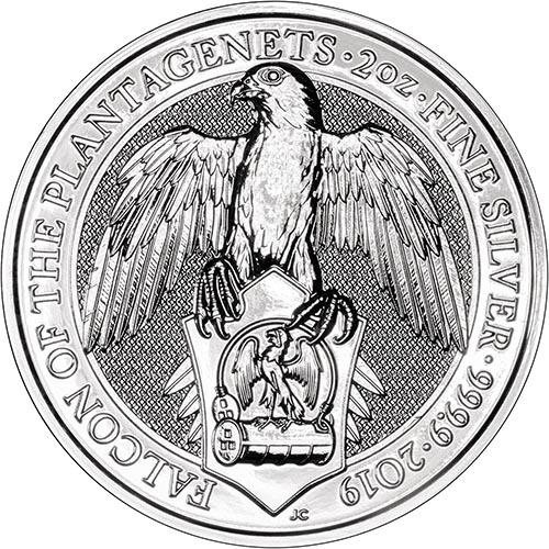 2019 Silver Great Britain Queen/'s Beasts The Falcon 2 oz