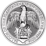 2019 2 oz Silver Coin Queen's Beasts Falcon of the Plantagenets Bullion 24072