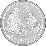 2016 10 oz Silver Coin Lunar Year of the Monkey Perth Mint Bullion 20601