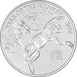 2016 1 oz Silver Coin Lunar Year of the Monkey Royal Mint Bullion 23560