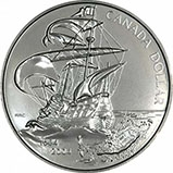 2004 Canada First French Settlement $1 Silver BU Coin 20524