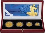 2001 Whole Coin Set Britannia - Four (4) Coins Gold Proof 22132