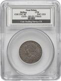 1758 Slabbed Shilling George II CGS UNC 80 24504
