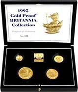 1995 Whole Coin Set Britannia - Four (4) Coins Gold Proof 24304