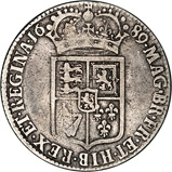 1689 William and Mary Silver Half Crown Reverse