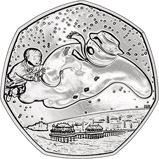 2018 UK Coin 50p BU The Snowman 22540