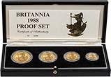 1988 Gold Proof Britannia Coin Set - 4 Coins 22230