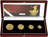 2004 Whole Coin Set Britannia - Four (4) Coins Gold Proof 24595