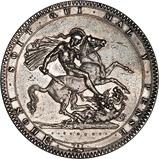 1819 George III Silver Crown 21946