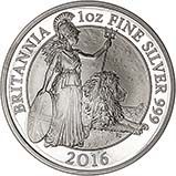 2016 1 oz Silver Coin Britannia Proof 20869