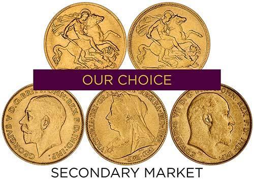 Bullion Half Sovereigns - Secondary Market 24930