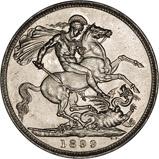 1899 Victoria Old Head Silver Crown 20799