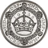 1928 George V Wreath Silver Crown 21078