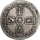 1696 William III Silver Crown  21973