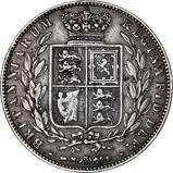 1874 Victoria Silver Half Crown 24772