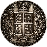 1875 Victoria Silver Half Crown  20624