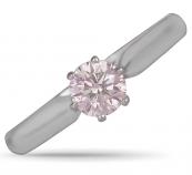Platinum Pink Diamond Solitaire Ring   25427