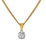 18ct Yellow Gold White Diamond Pendant 20771