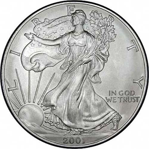 2001-1 oz American Silver Eagle Coin One Troy oz .999 Bullion