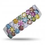 Platinum Coloured Diamond Dress Ring 63