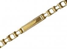 18ct Yellow Gold Diamond ID Bracelet  25447