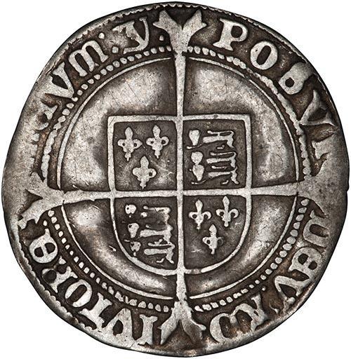 1551 Edward VI Silver Sixpence York Mint 24446