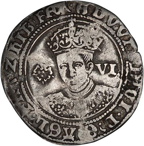 1551 Edward VI Silver Sixpence York Mint 24445