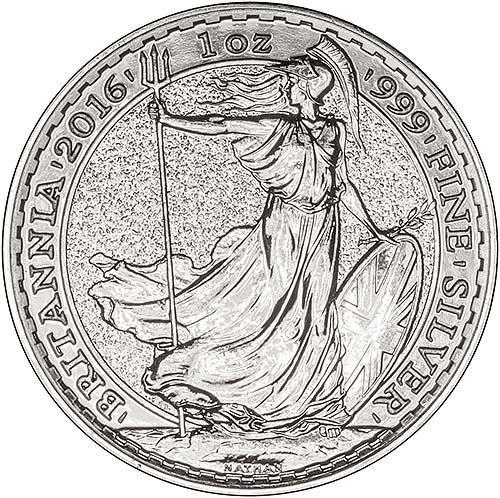 2016 1 oz Silver Coin Britannia Bullion 22161
