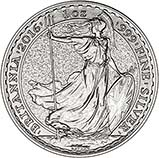 2016 1 oz Silver Coin Britannia Bullion 22161