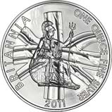 2011 1 oz Silver Coin Britannia Bullion 22570