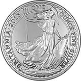 2013 1 oz Silver Coin Britannia Bullion 23589