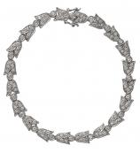 18ct White Gold White Fancy Diamond Set Bracelet 25450