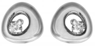 18ct White Gold White Fancy Diamond Earrings 25453