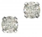 18ct White Gold Classic Diamond Earrings  25574