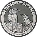 2017 1 oz Silver Coin Kookaburra Bullion 23524