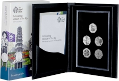 2019 Base Metal 50 Years of the 50p 5 Coin British Culture Set