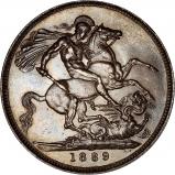 1889 Victoria Jubilee Head Silver Crown Reverse