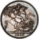 1887 Victoria Jubilee Head Silver Crown Reverse