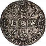 1668 Charles II Silver Crown Reverse
