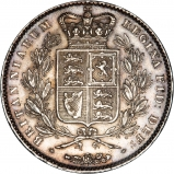 1845 Victoria Young Head Silver Crown Reverse