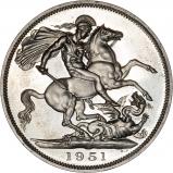 1951 George VI Silver Crown Reverse