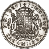 1937 George VI Silver Crown Reverse