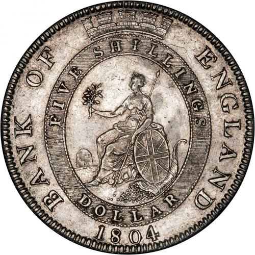 1804 George III Bank of England Silver Dollar Reverse