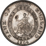 1804 George III Bank of England Silver Dollar Reverse