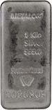 1 Kg Silver Bar Metalor Metalor w/ Cert Pre-Owned 22364